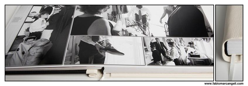 Elegante impaginazione in un Album da Matrimonio